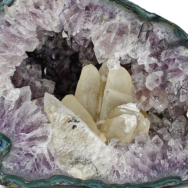 Amethyst Geode with Quartz Inclusions XL