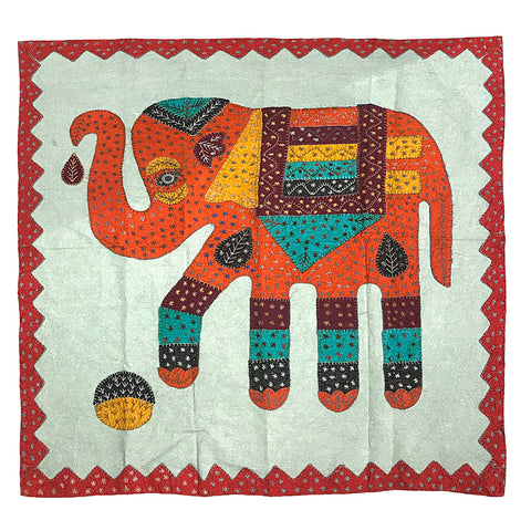 Appliqued Elephant Wall Hanging