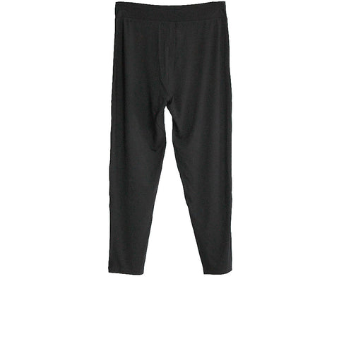 Black Bamboo Cross Waist Capri Leggings