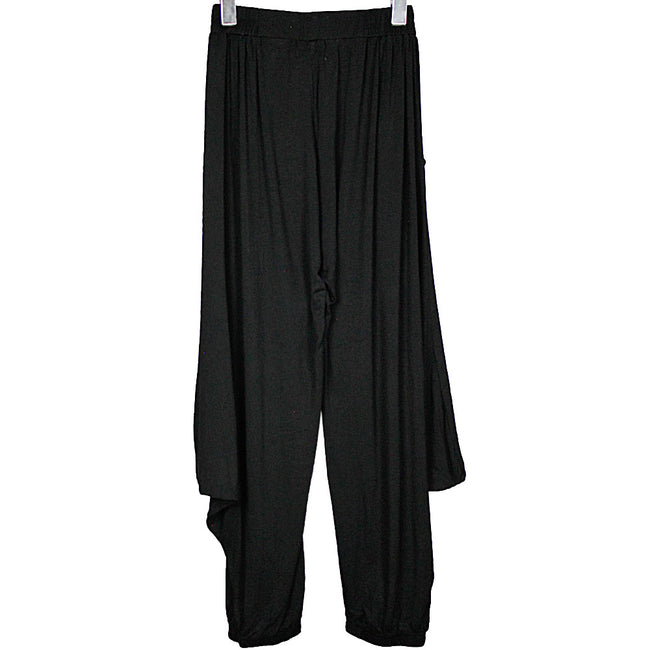 Black Bamboo Drape Pants