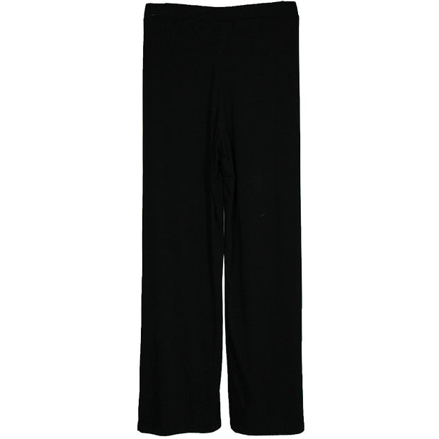 Black Bamboo Wide Leg Dress Pant
