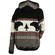 Black Bear Paw Unisex Wool Sweater