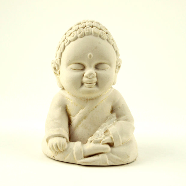 Earth Touching Mini Gypsum Buddha