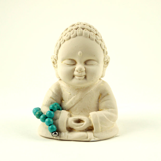 Meditating Mini Gypsum Buddha
