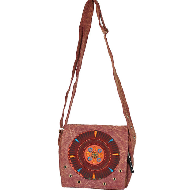 Burgundy Mandala Mini Purse