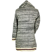 Charcoal Cabin Woman's Long Wool Sweater Back