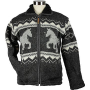 Charcoal Horse Unisex Wool Sweater front 3