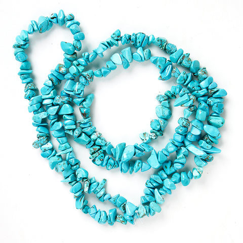 Soothing Turquenite Chip Necklace 36""