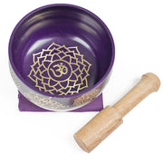 Crown Chakra (Purple) Singing Bowl Gift Set Medium