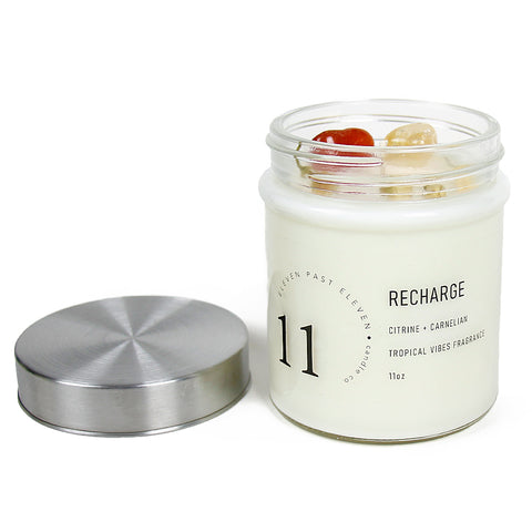 Recharge Crystal Charged Candle 11oz