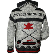 Curling Unisex Wool Sweater back