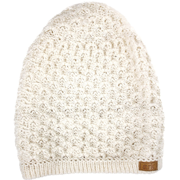 White Honeycomb Slouch Hat