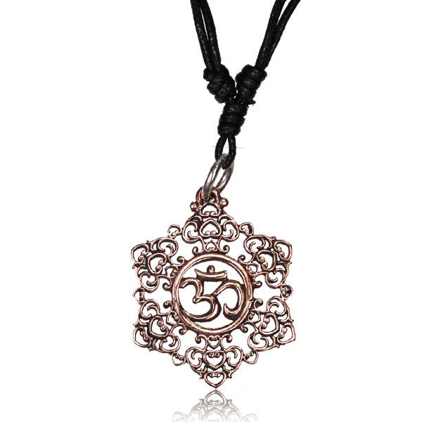 Rose Bronze AUM Pendant Necklace