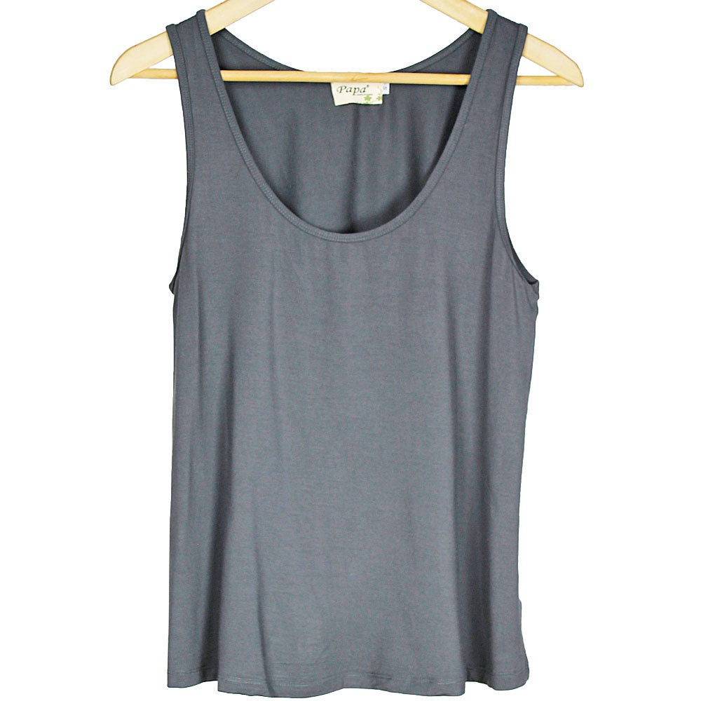 Grey Bamboo Tank Top