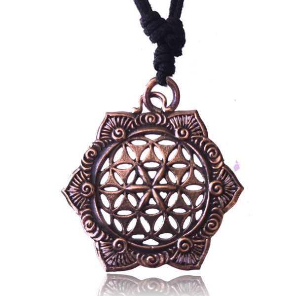Positive Flow Copper Pendant Necklace