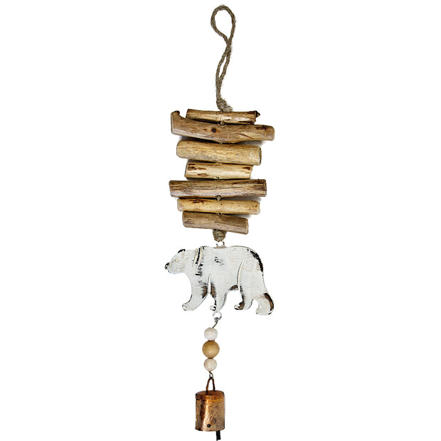 Black Bear Vintage Driftwood Bell Chimes