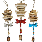 Dragonfly Vintage Driftwood Bell Chimes