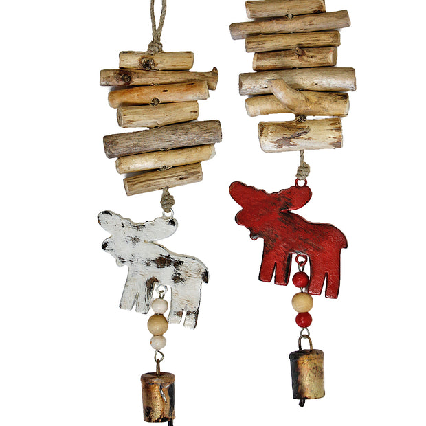 Moose Vintage Driftwood Bell Chimes