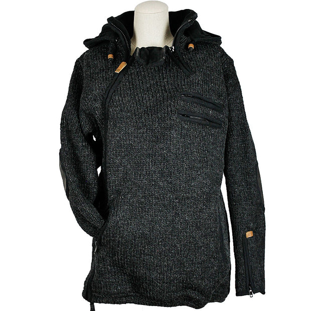 Metro Side Zip Unisex Wool Sweater