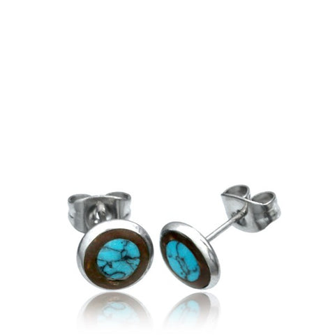 Coco Shell & Turquoise Ear Stud