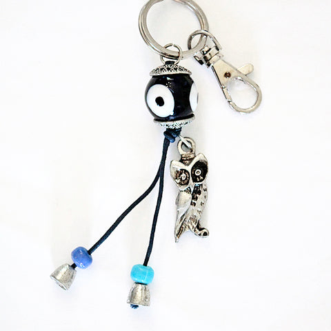 Evil Eye Protection & Owl Keychain