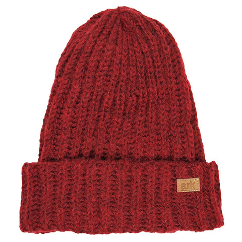 Burgundy Soho Cuff Hat