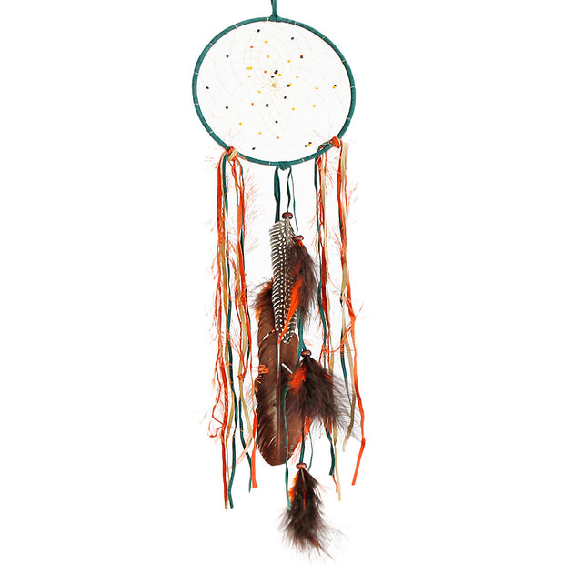 Fall Green Dream Catcher 6""