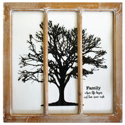 Family Tree Windowpane Sign