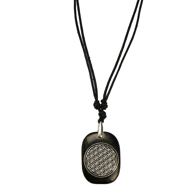 Flower of Life Shungite Pendant