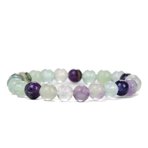 Peaceful Flourite 8mm Power Bracelet