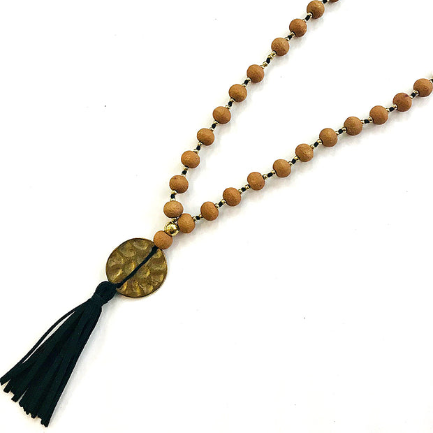 Antique Gold Medallion Mala