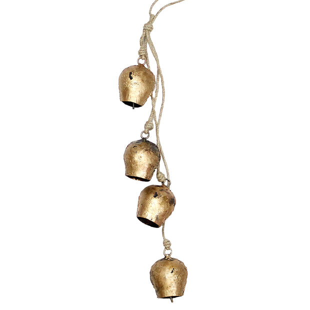 Golden Swiss Holiday Hanging Bell Chimes