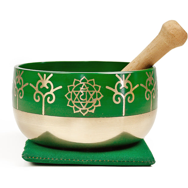 Heart Chakra (Green) Singing Bowl Gift Set Medium