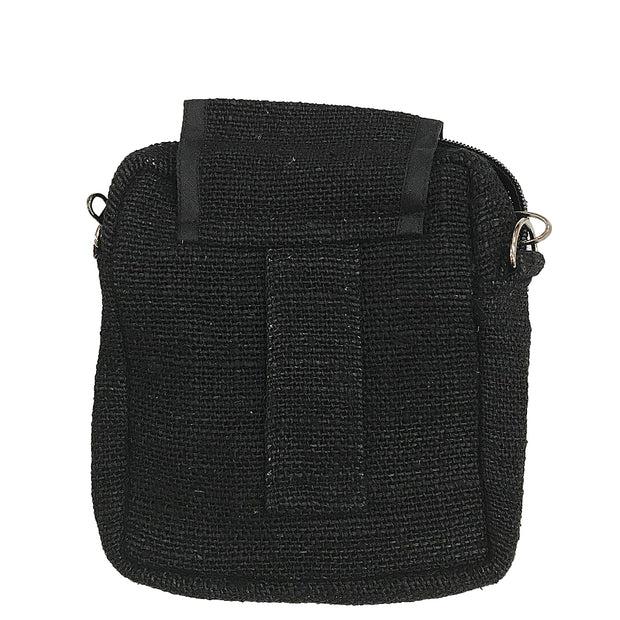 Black Hemp Mini Purse