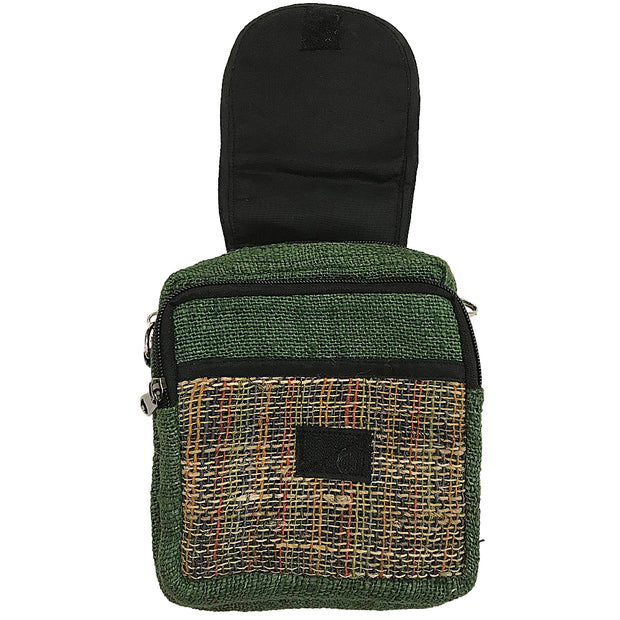 Green Hemp Mini Purse