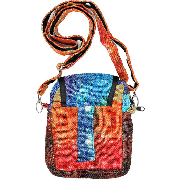 Rainbow Hemp Mini Purse