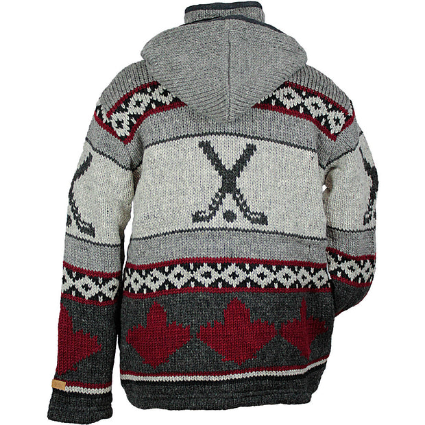 Hockey Unisex Wool Sweater back