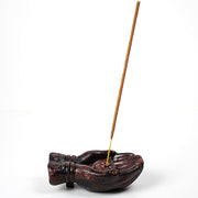 Lotus in Hand Ceramic Incense Holder