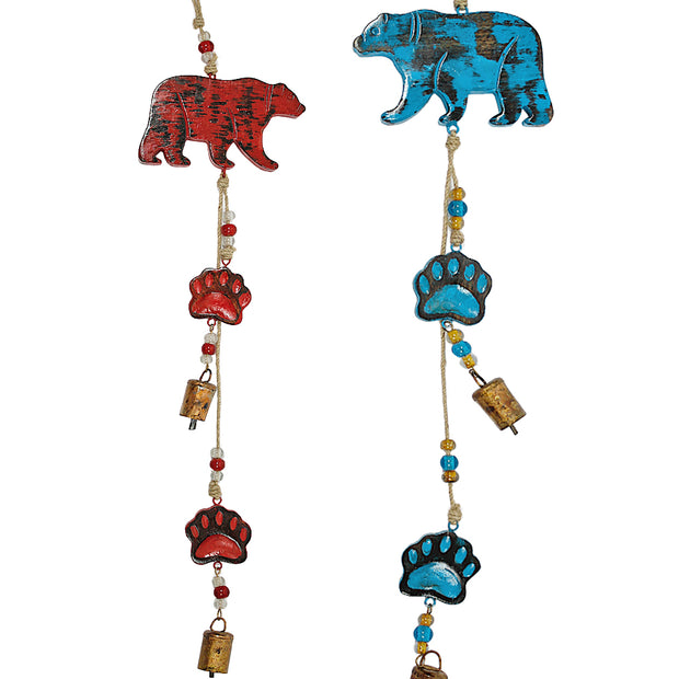 Bear Indoor/Outdoor Mango Wood Bell Chime