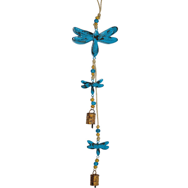 Dragonfly Indoor/Outdoor Mango Wood Bell Chimes