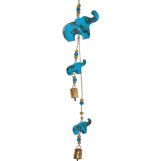 Elephant Indoor/Outdoor Mango Wood Bell Chimes