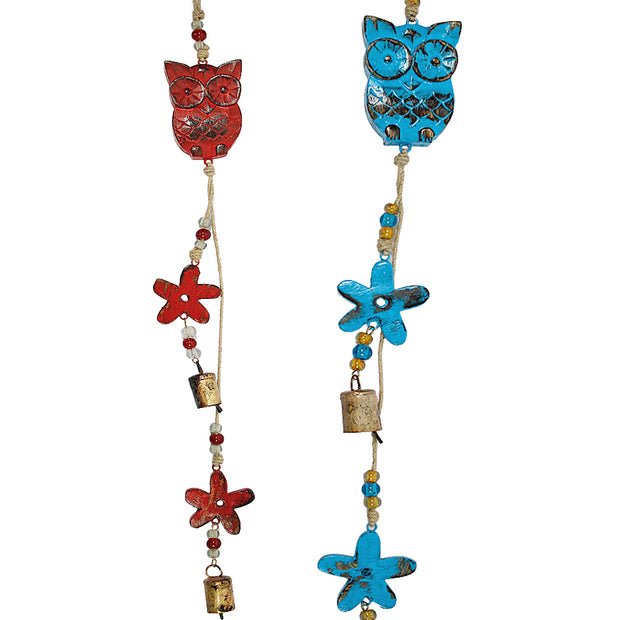Owl Indoor/Outdoor Mango Wood Bell Chimes