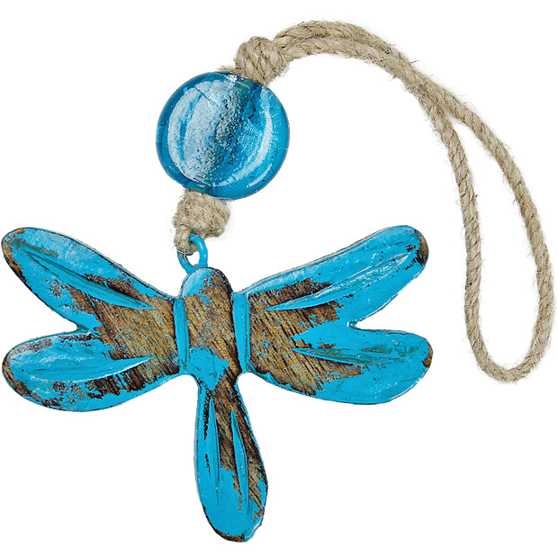 Dragonfly Indoor/Outdoor Mango Wood Ornament