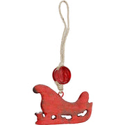 Sleigh Indoor/Outdoor Mango Wood Ornament