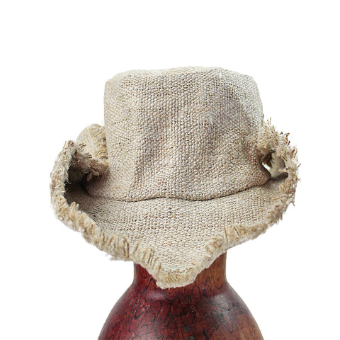 Natural Fringe Hemp Wire Rim Hat