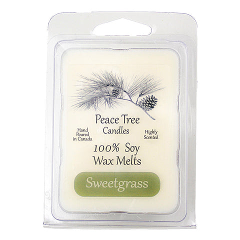Fresh Cut Sweetgrass Peace Tree Soy Candle
