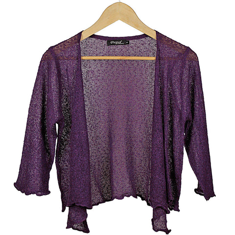 Purple Open Tie Cardigan