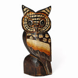 AMBER Carved Owl
