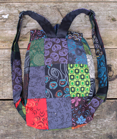 Petite Patch Knapsack back view
