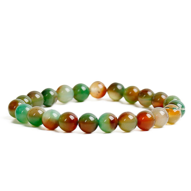 Balancing Rainbow Agate 8mm Power Bracelet